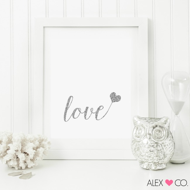 Perfect for displaying in your home for Valentine's Day or really any time of the year you want to celebrate love, download and print these free Valentine's Day Printables!