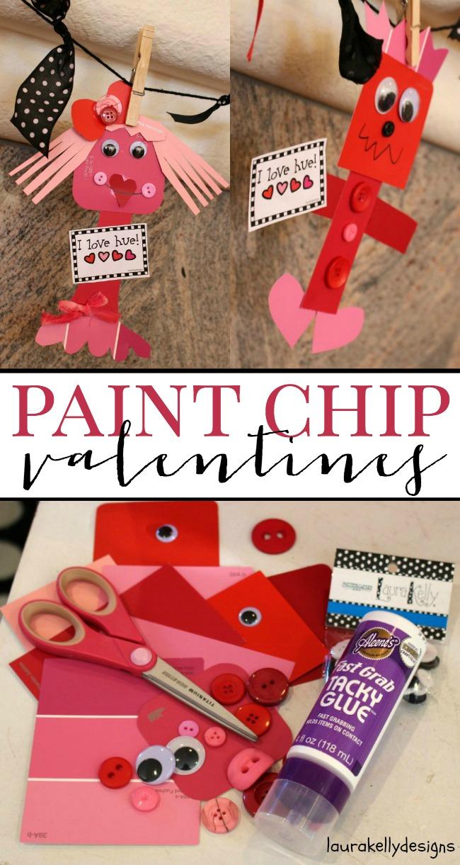 Paint Chip Valentines | anightowlblog.com