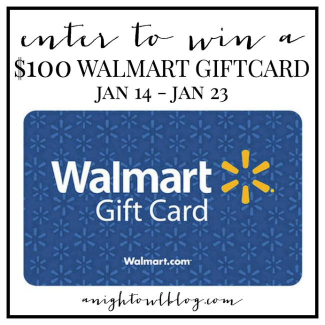 Walmart Giftcard Giveaway | anightowlblog.com