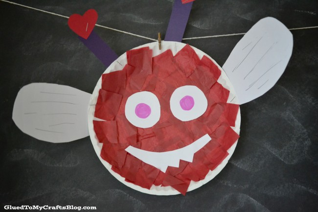 Paper Plate Love Bug Kid Craft