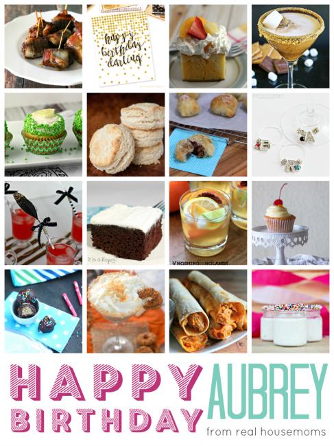 Aubrey's Birthday Party Collage Vertical