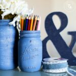 Denim Painted Mason Jars