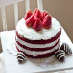 Easy Naked Red Velvet Cake