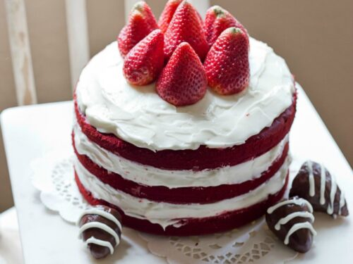 Easy Naked Red Velvet Cake A Night Owl Blog