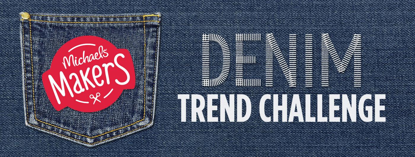 Michaels Makers Denim Trend Challenge | anightowlblog.com