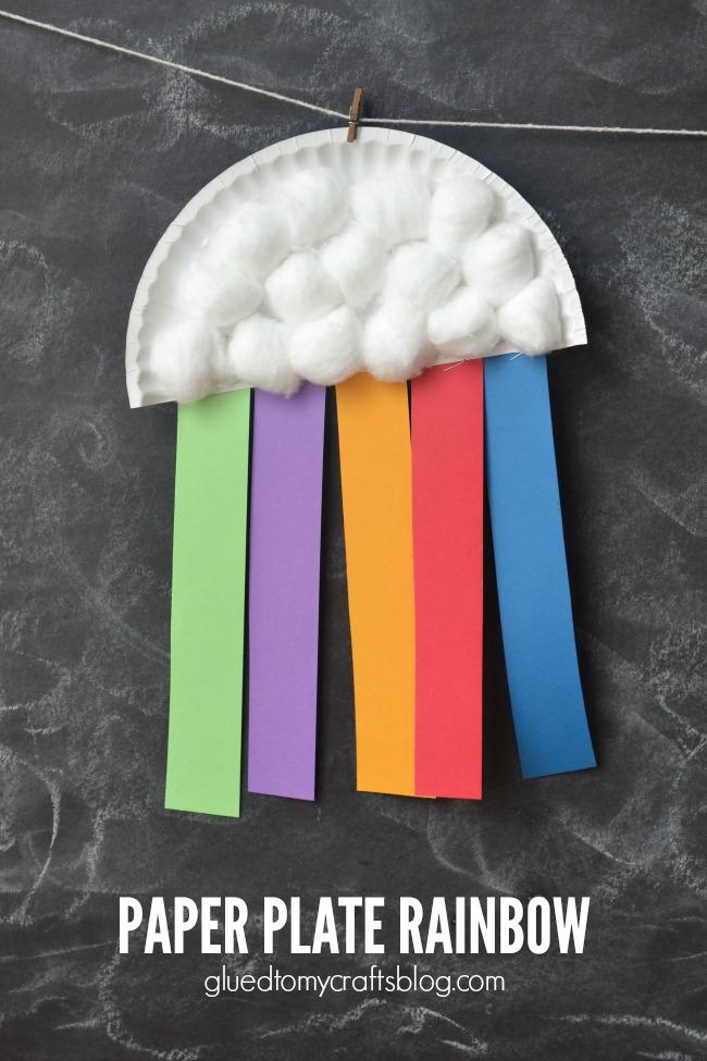 Paper Plate Rainbow Kids Craft