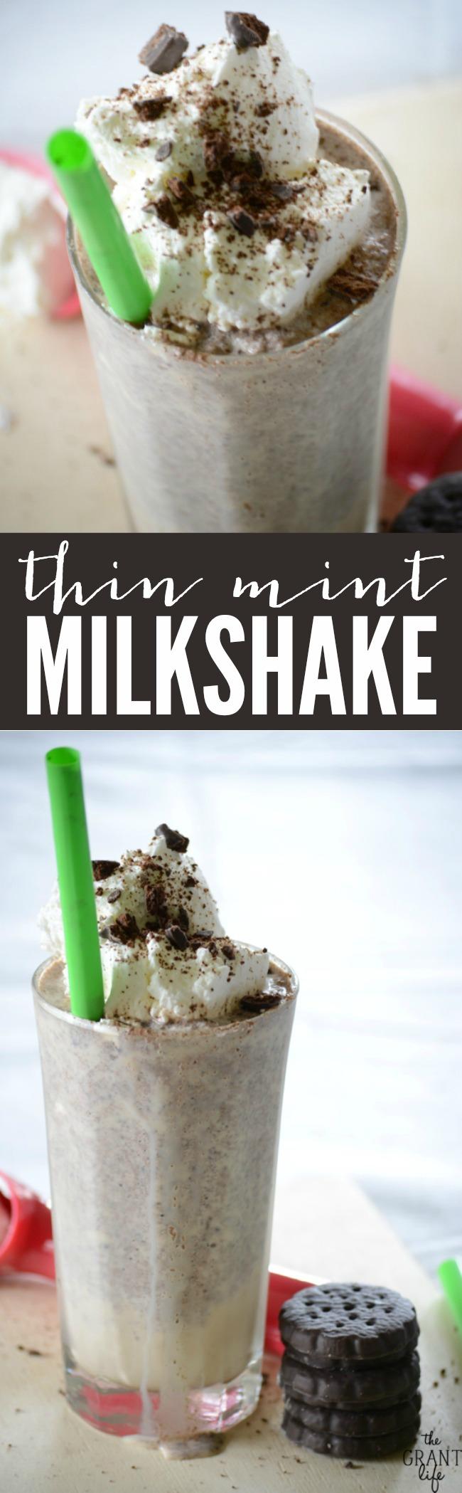Thin Mint Milkshake | anightowlblog.com