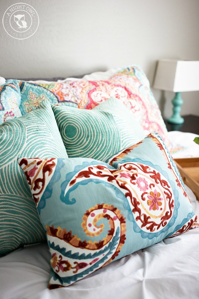 Colorful Bedroom Refresh With BHG A Night Owl Blog Stunning Better Homes And Gardens Decorative Pillows