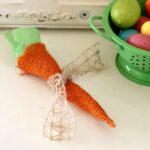 DIY Easter Burlap Carrots