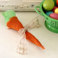 DIY Easter Burlap Carrots Feature