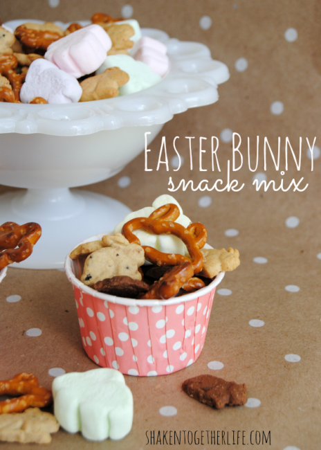 Easter Bunny Snack Mix from Shaken Together