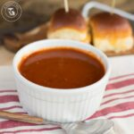 Tomato & Basil Soup with Grilled Cheese Sliders