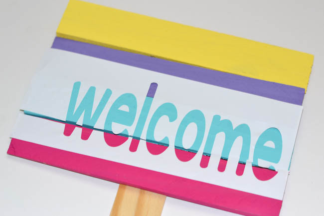 Wood Shim Welcome Sign-5