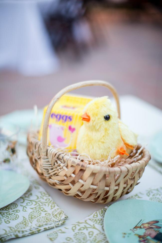 Little Chick Themed Easter Basket | anightowlblog.com