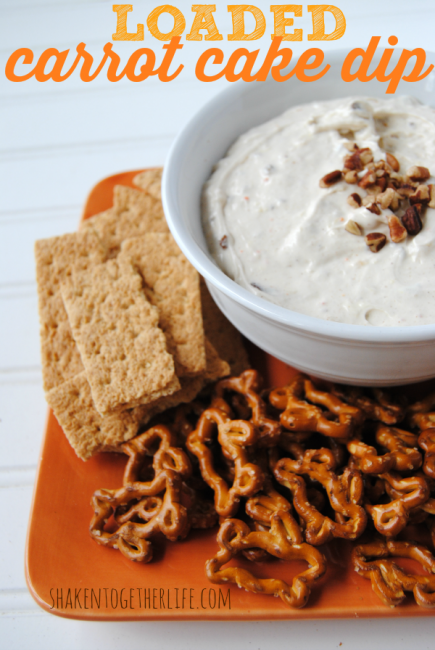 Loaded Carrot Cake Dip from Shaken Together