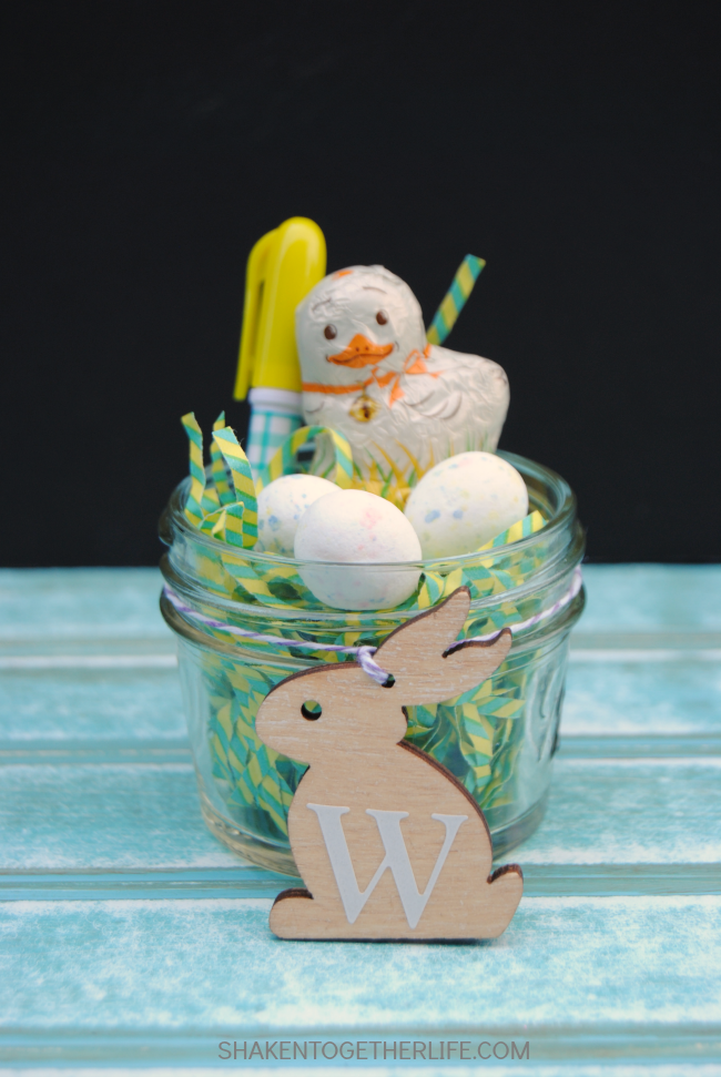 Mini mason jar easter basket chick2 a night owl blog mini mason jar easter baskets adorable gifts place cards or party favors negle Gallery