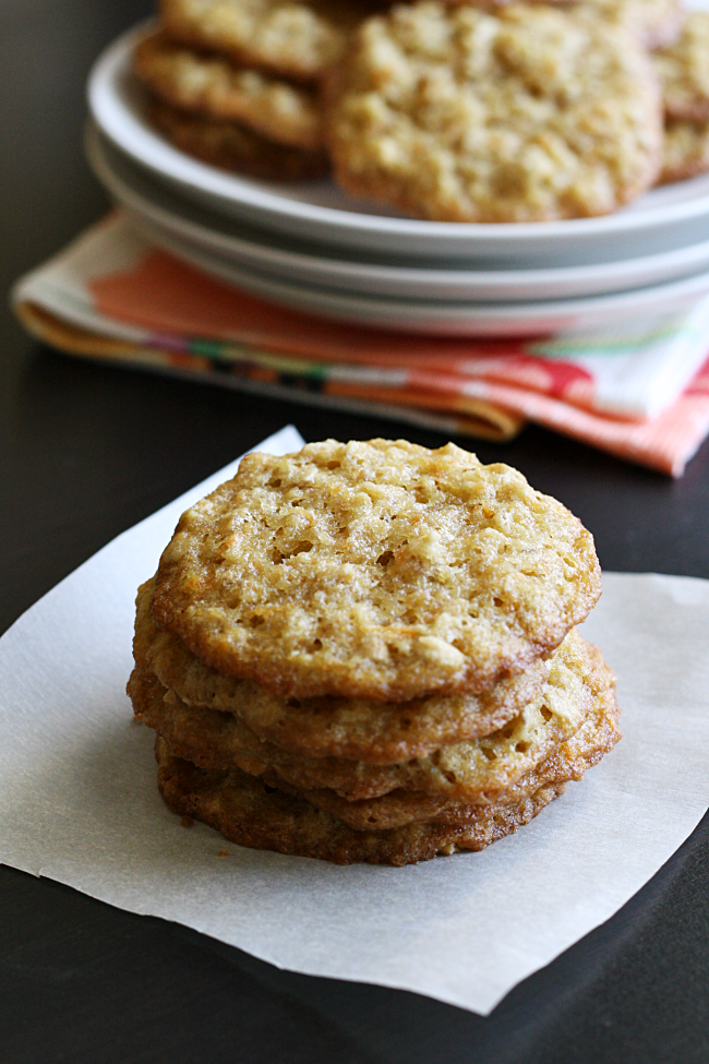 Carrot Cake Oatmeal Lace Cookies | A Night Owl Blog