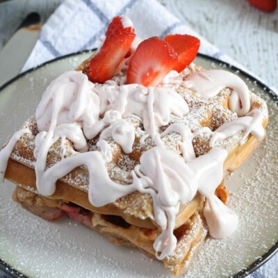 Strawberry Waffles with Homemade Strawberry Whipped Cream | anightowlblog.com