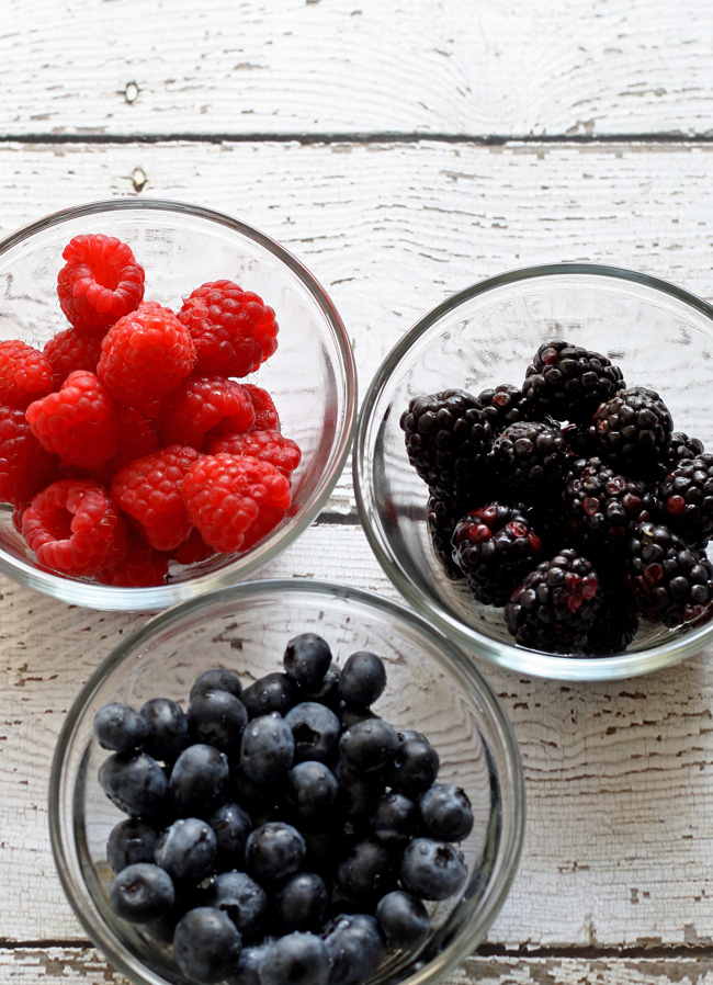 Triple Berry Milkshake - a delicious combination of your favorite berries in one delicious shake!