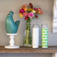 DIY Brick Painted Candles