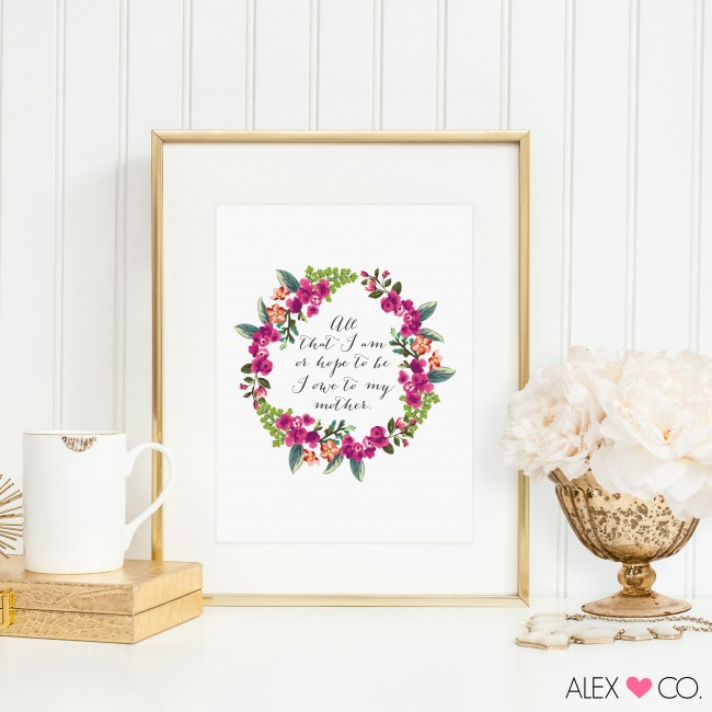 A sweet and easy gift for Mom this year, download, print and frame this Free Mother's Day Printable!