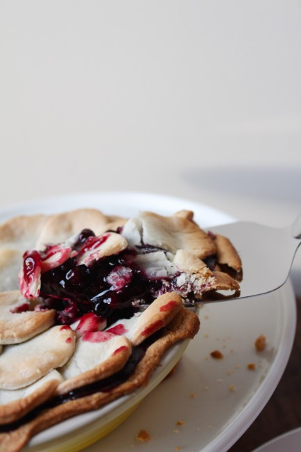 Blue Ribbon Blueberry Pie - an award-winning fresh blueberry pie with hints of citrus and ginger - the perfect summer BBQ treat!
