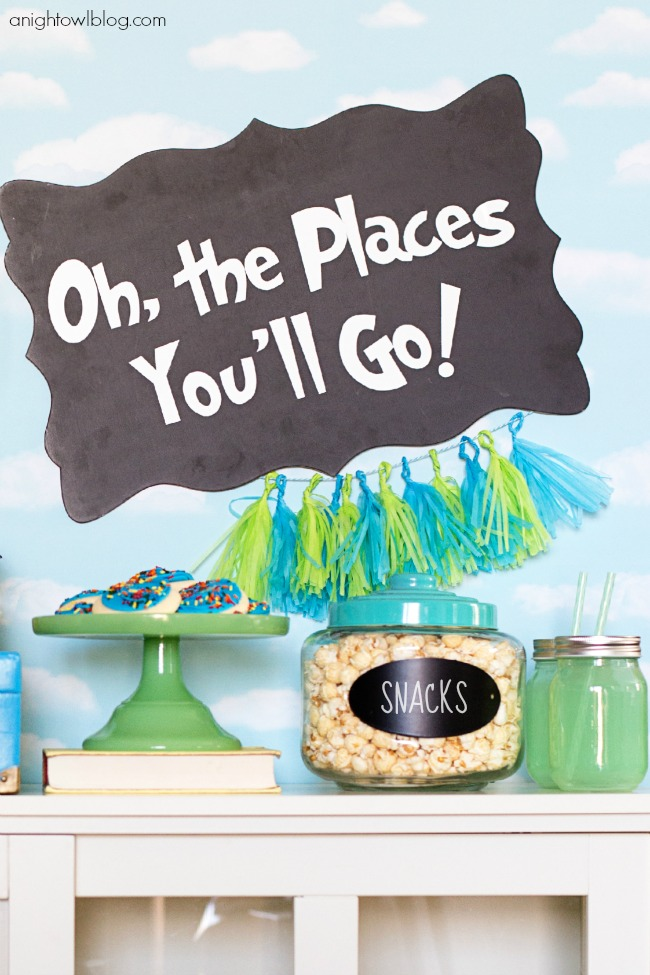Oh The Places You Ll Go Graduation Party A Night Owl Blog