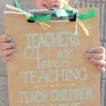 Painted Clipboard Teacher Gift