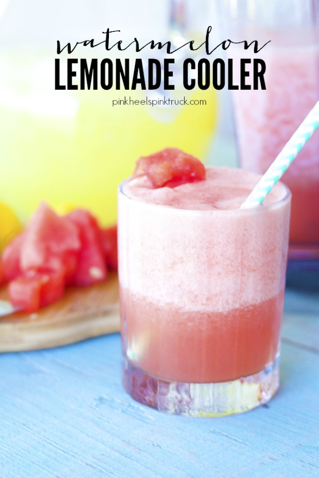 Watermelon Lemonade Cooler | anightowlblog.com