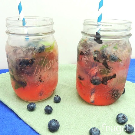 Blueberry Ginger Mojito | White Lights on Wednesday
