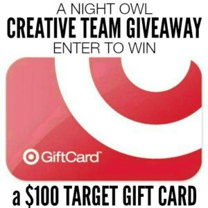 $100 Target Gift Card Giveaway   anightowlblog.com