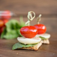 Caprese Triscuit Snacks