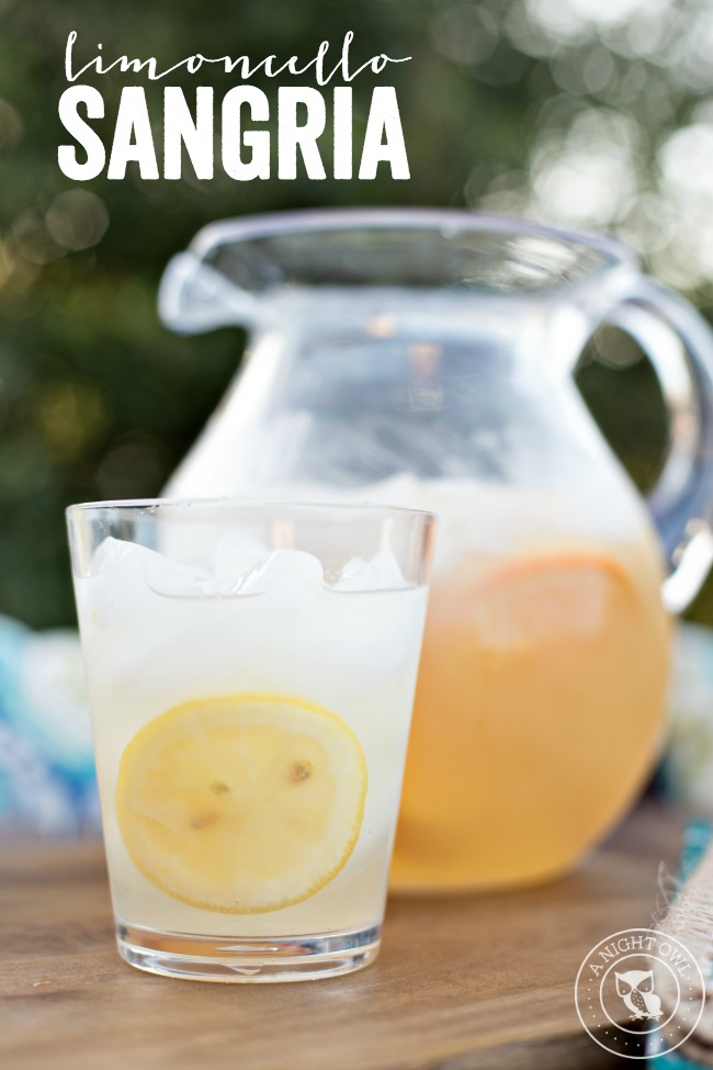Limoncello Sangria - a delicious blend of limoncello and white wine that will have you enjoying sangria all summer long!