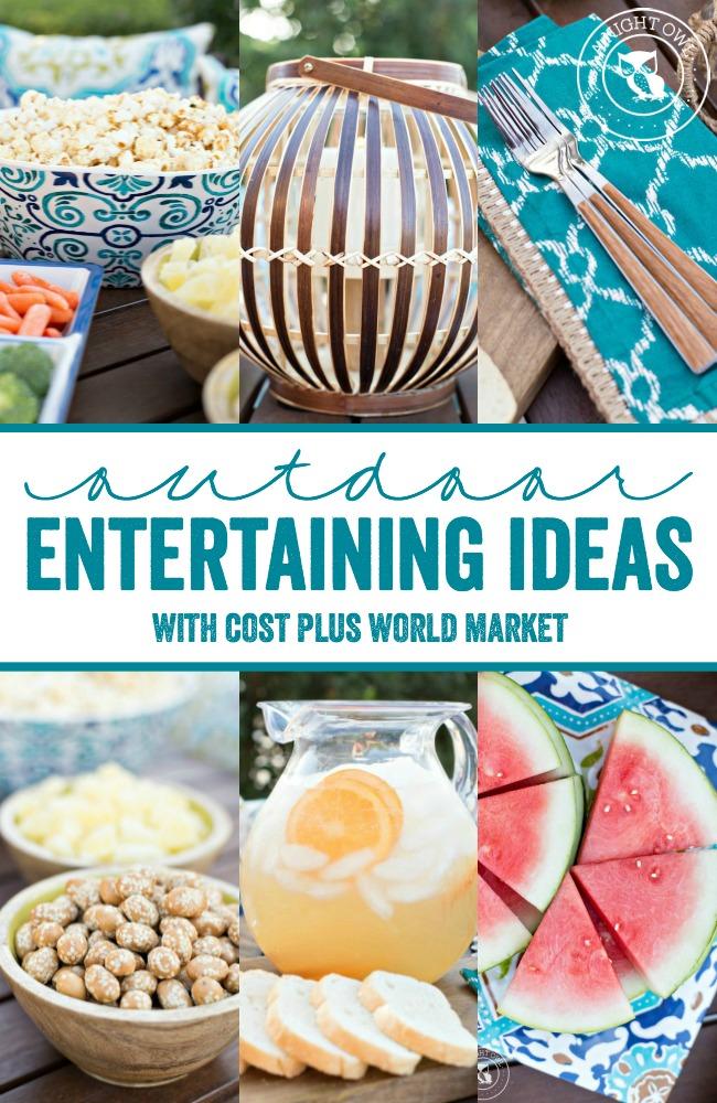 Summer Outdoor Entertaining Ideas with World Market #WorldMarketLove4Outdoors
