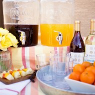 Outdoor Sangria Bar - the perfect way to usher in summer! Sangria cocktails, fruit and more!
