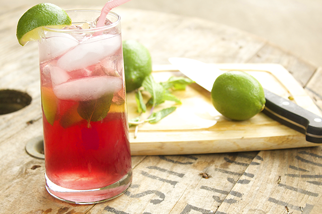 Wildberry Mojito - a delicious combination of classic mojito flavors with Pama Liquor, Blackberry and Dragon Berry.