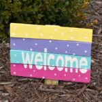 Wood Shim Welcome Sign