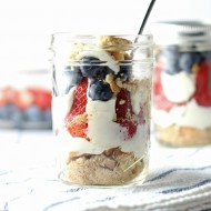 Patriotic No Bake Cheesecake Parfait