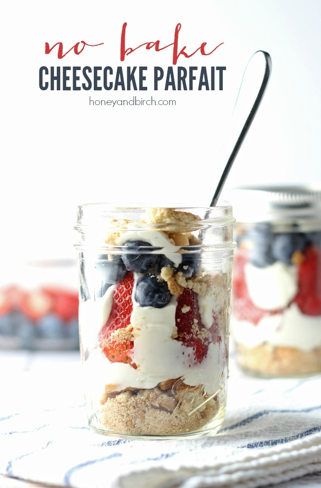 No-Bake Cheesecake Parfaits | anightowlblog.com