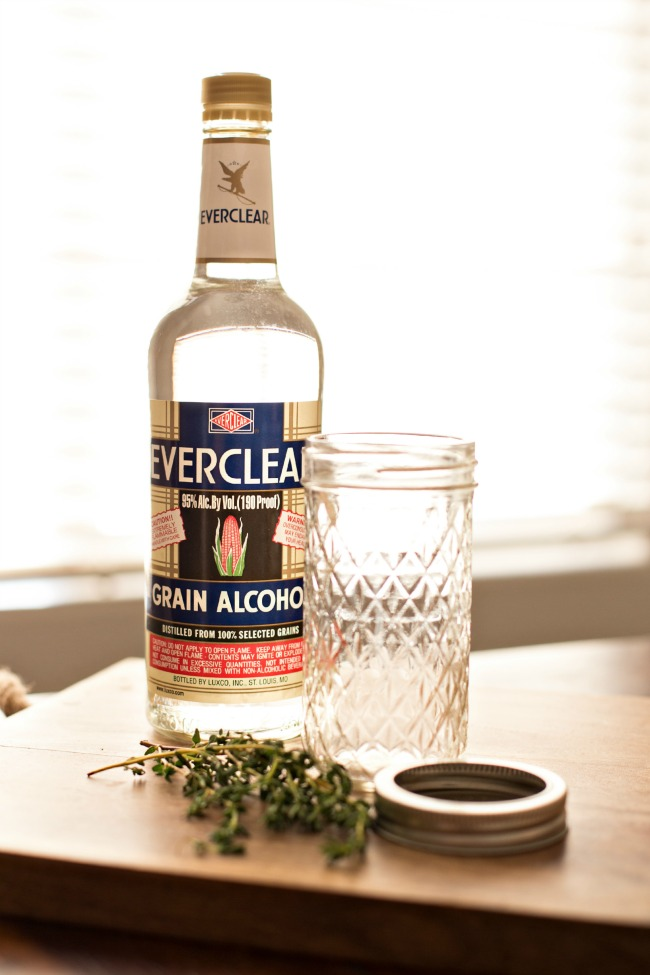 Thyme infused liqueur