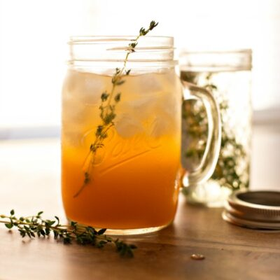 Mango Thyme Sangria - a refreshing blend of unique flavors in one delicious cocktail!
