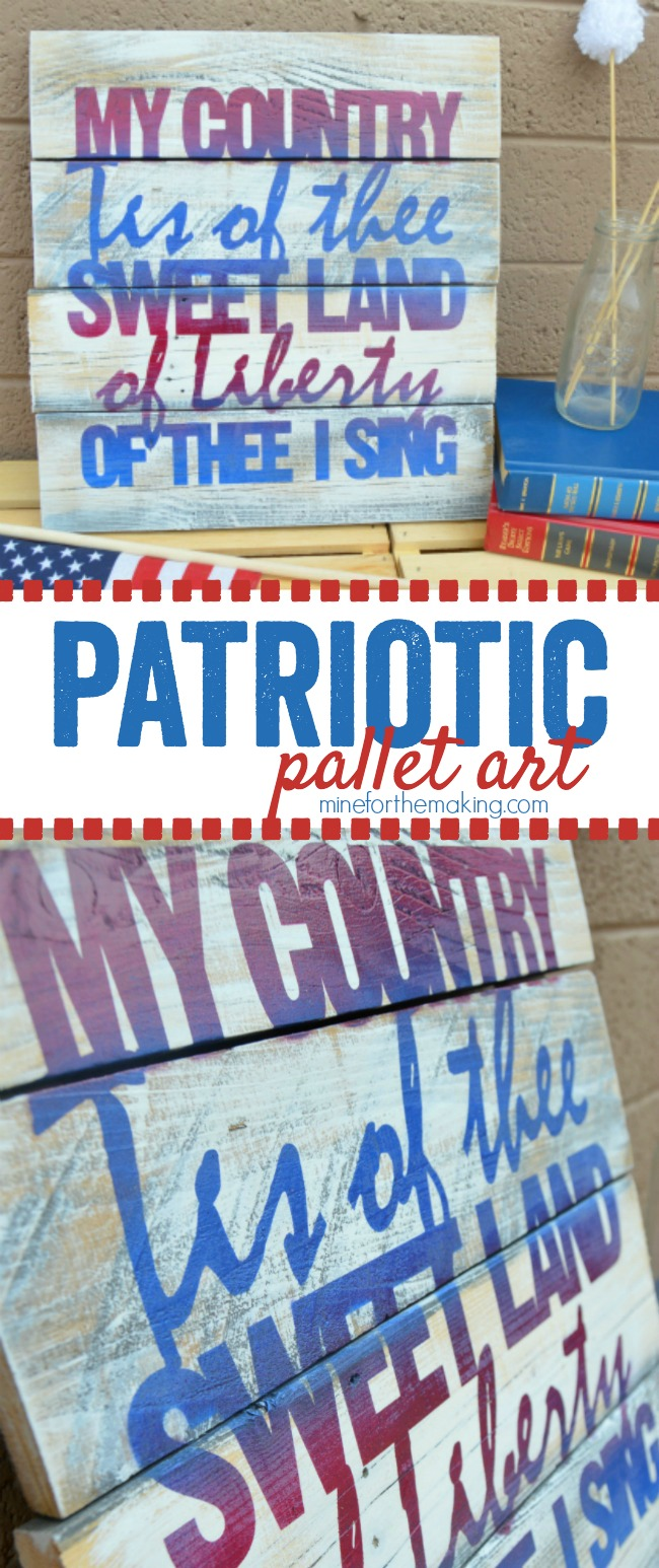 Patriotic Pallet Art - a fun and easy DIY that is perfect for the 4th!