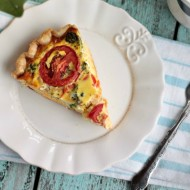Roasted Veggie Quiche