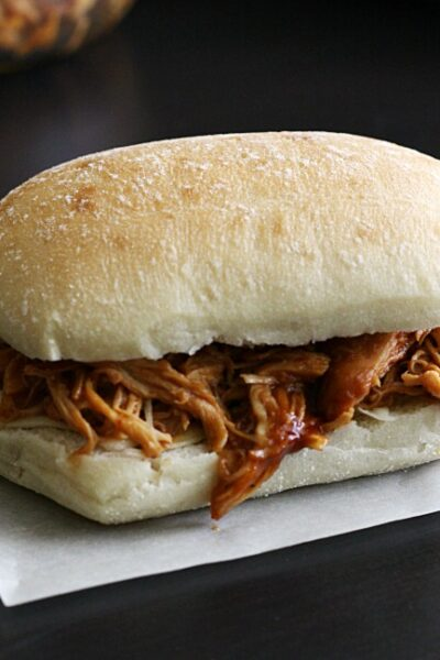Chipotle Chicken BBQ Sandwiches - an easy slow cooker meal your family will love!