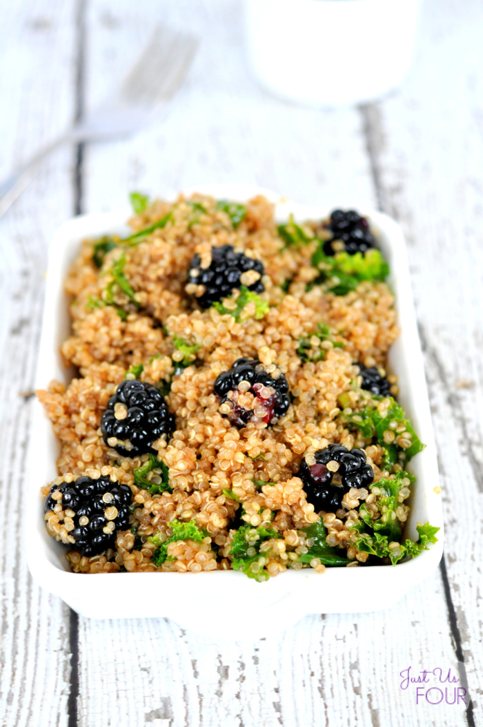 Hot or cold...this kale quinoa salad is the perfect meal.