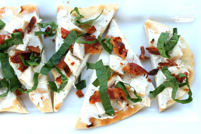 Chicken Bacon Flatbread is a light delicious bite that makes an easy party app or make it for a quick dinner idea!