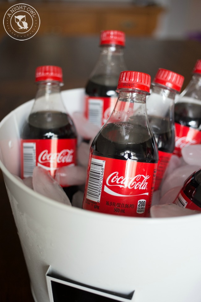 Serve chilled CocaCola with your Effortless Marketside Meal!