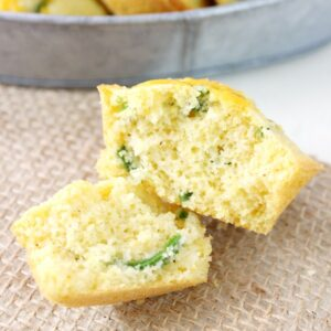 These Jalapeño Cheddar Corn Muffins are a great way to jazz up dinner! They come together in no time and are a great accompaniment to any meal!