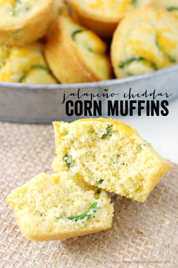 These Jalapeño Cheddar Corn Muffins are a great way to jazz up dinner ...