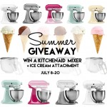 KitchenAid Mixer + Ice Cream Maker Giveaway